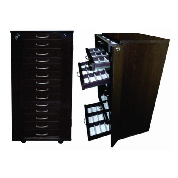 optical frame storage trolley