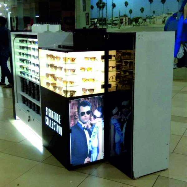 optical display kiosk