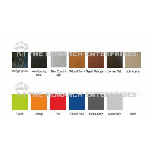 color range of optical showroom display