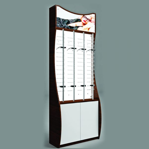 Optical Backlit Unit with Lockable Rods Retail Display
