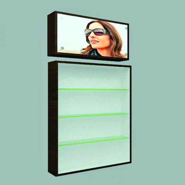 Modular Wall Display Uni to Display & Store Contact Lens Solution