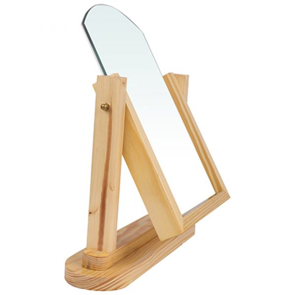 optical display wooden mirror