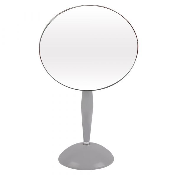 Metallic Grey Table Top Mirror
