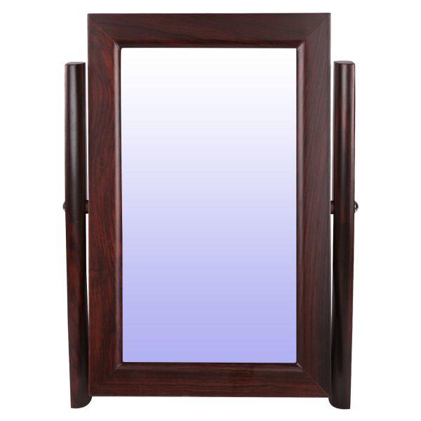 eyewear wooden display counter mirror
