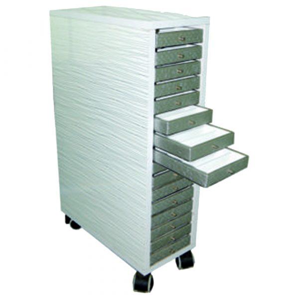 optical frame storage drawer trolley