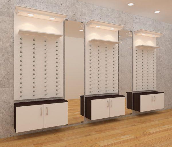 optical wall display unit