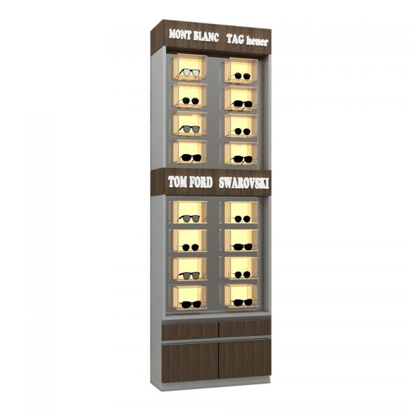Eyeglass Wall Display Unit
