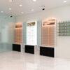 optical shop wall display design