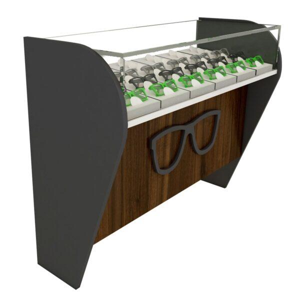 small optical shop counter design